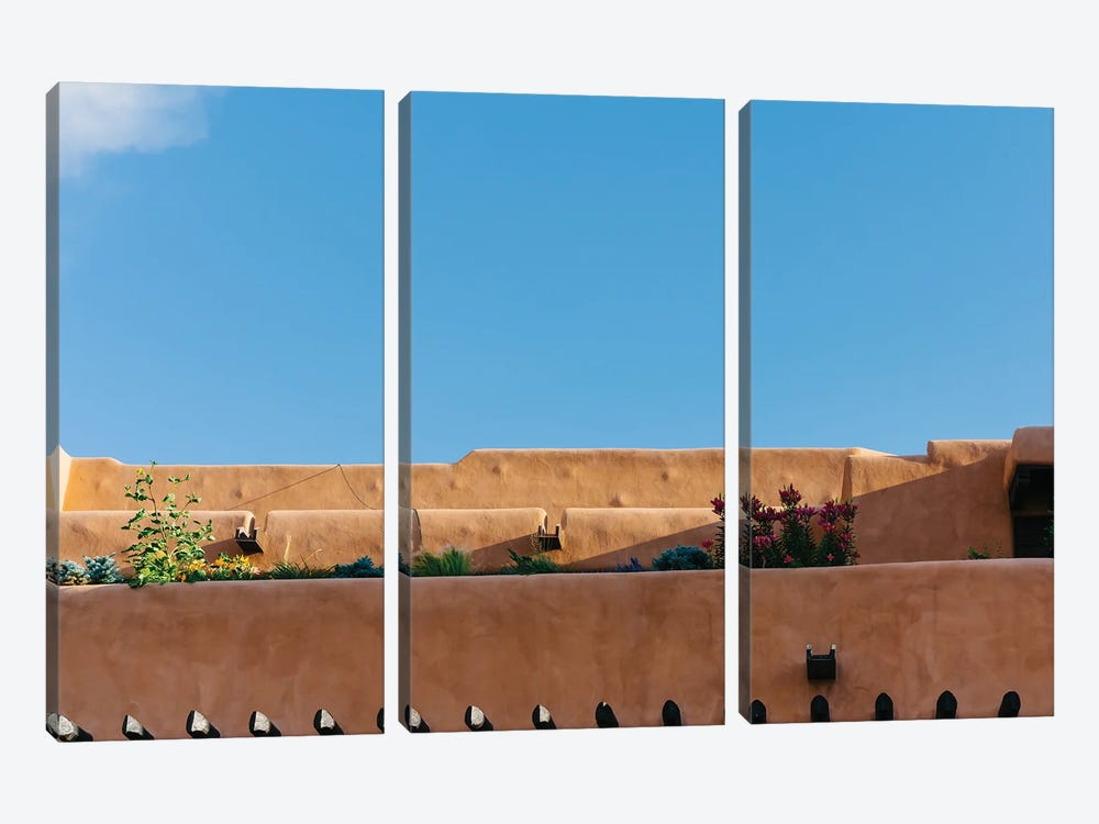 Santa Fe Architecture by Bethany Young 3-piece Canvas Wall Art