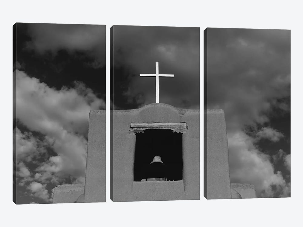 Santa Fe's San Miguel Chapel II by Bethany Young 3-piece Canvas Art