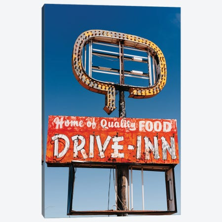 New Mexico Drive Inn Canvas Print #BTY1445} by Bethany Young Canvas Wall Art