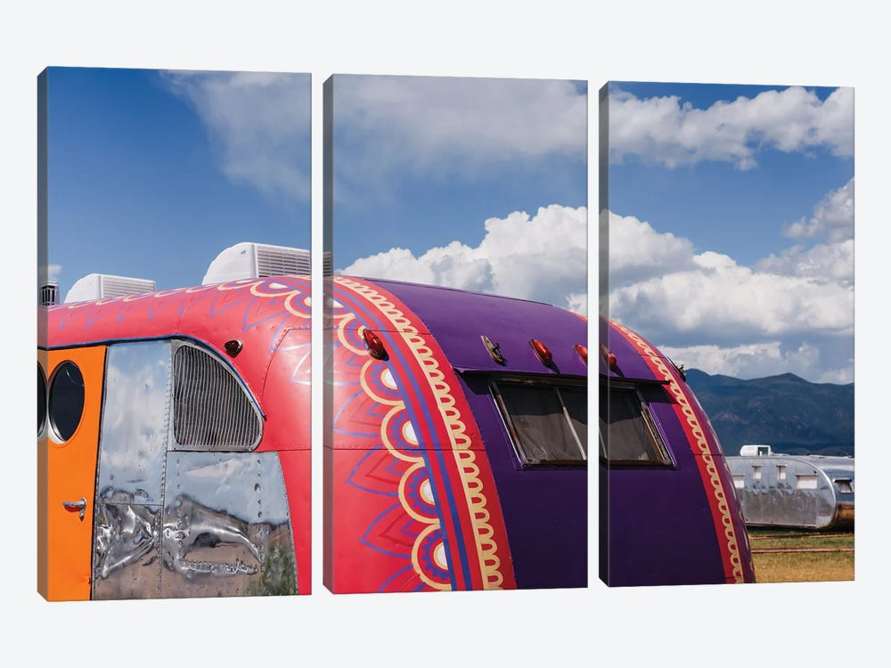 New Mexico Airstream by Bethany Young 3-piece Canvas Art Print