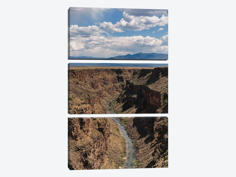 Rio Grande Gorge II by Bethany Young 3-piece Canvas Art Print
