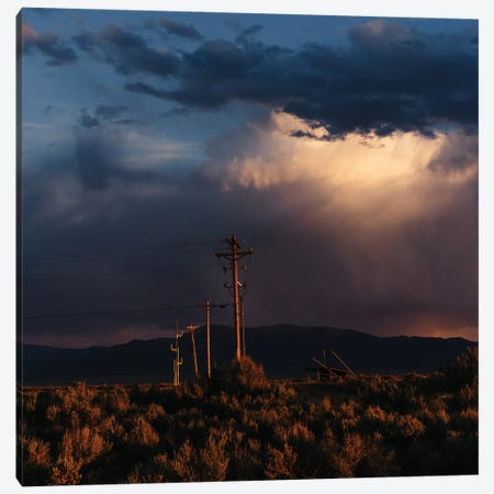 Taos Mountains Sunset III Canvas Print #BTY1509} by Bethany Young Canvas Artwork