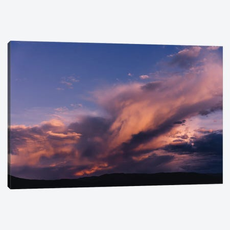 Taos Mountains Sunset Canvas Print #BTY1512} by Bethany Young Canvas Print