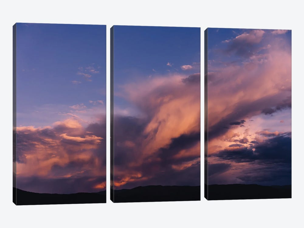 Taos Mountains Sunset by Bethany Young 3-piece Canvas Wall Art