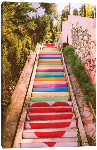 Micheltorena Stairs Canvas Art Print