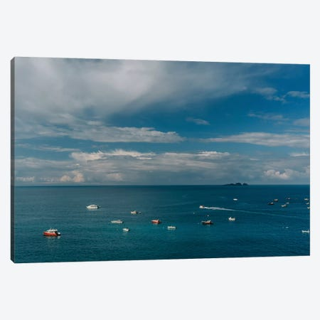 Amalfi Coast Boats II Canvas Print #BTY187} by Bethany Young Art Print