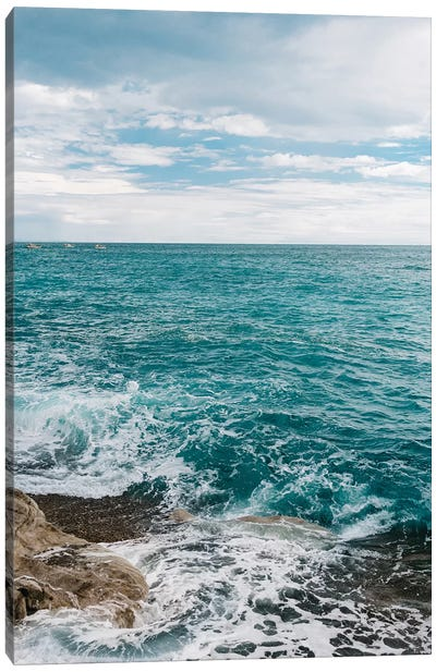 Amalfi Coast Water V Canvas Art Print