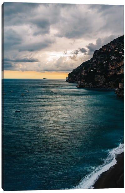 Stormy Positano VII Canvas Art Print