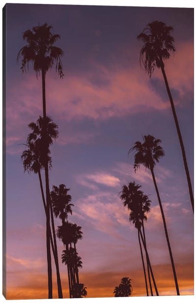 LA Sunset Canvas Art Print