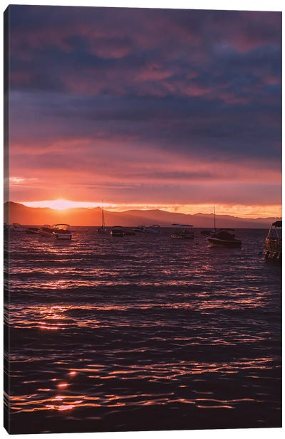 Lake Tahoe Sunset Canvas Art Print