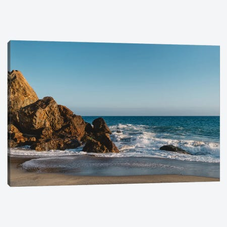 Malibu Sunset Canvas Print #BTY57} by Bethany Young Canvas Artwork