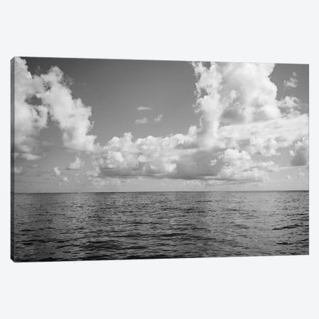 Monochrome Ocean View Canvas Print #BTY723} by Bethany Young Canvas Wall Art