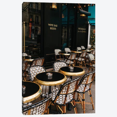 Paris Cafe VIII Canvas Print #BTY72} by Bethany Young Canvas Print