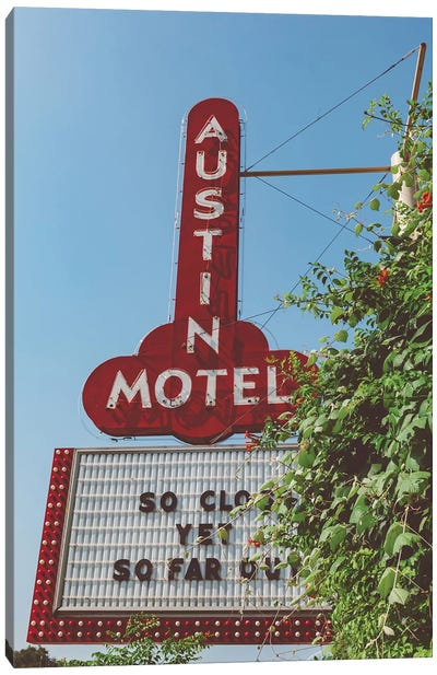 Austin Motel Canvas Art Print