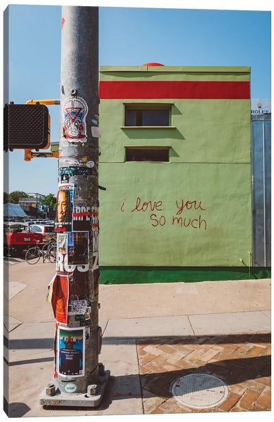 I Love You So Much Austin Canvas Art Print