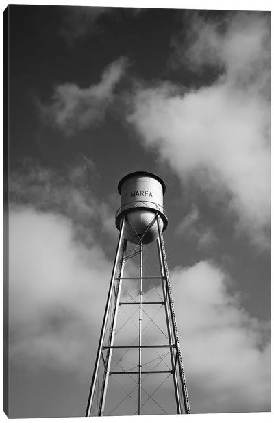 Monochrome Marfa Water Tower Canvas Art Print