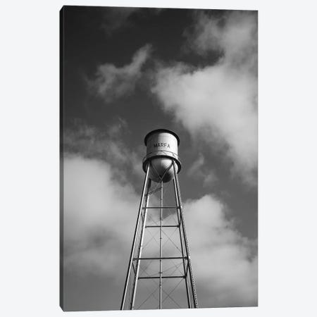 Monochrome Marfa Water Tower Canvas Print #BTY765} by Bethany Young Canvas Art Print