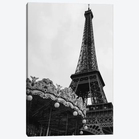 Eiffel Tower Carousel III Canvas Print #BTY770} by Bethany Young Canvas Art Print