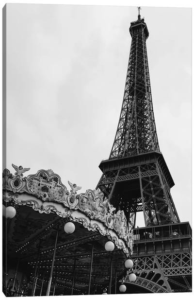 Eiffel Tower Carousel III Canvas Art Print