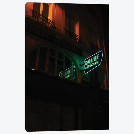 Paris Detective Canvas Print #BTY806} by Bethany Young Canvas Wall Art