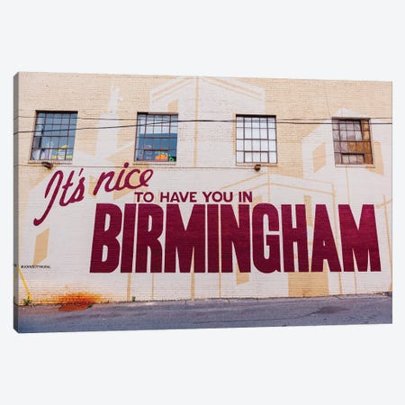 Birmingham Mural Canvas Print #BTY874} by Bethany Young Art Print