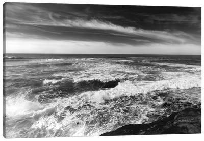 Monochrome Sunset Cliffs II Canvas Art Print
