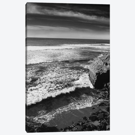 Monochrome Sunset Cliffs Canvas Print #BTY885} by Bethany Young Canvas Wall Art