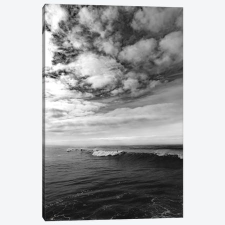 Monochrome Surfing Canvas Print #BTY886} by Bethany Young Canvas Art