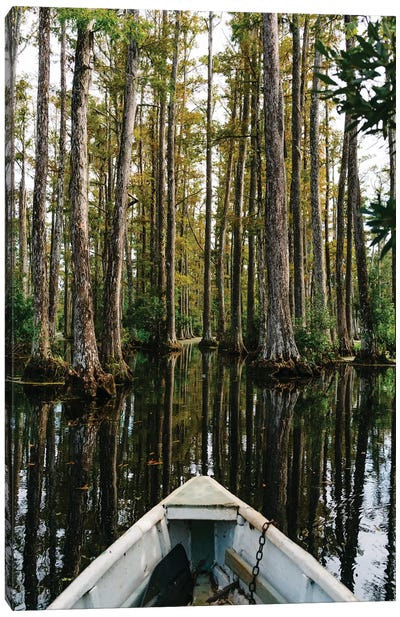 Charleston Cypress Gardens Boat IV Canvas Art Print