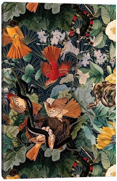 Birds And Snakes Canvas Art Print
