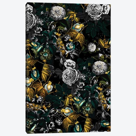 Exotic Garden - Night I Canvas Print #BUR107} by Burcu Korkmazyurek Canvas Art