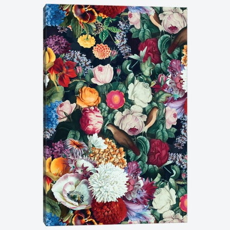 Exotic Garden - Night XIII Canvas Print #BUR114} by Burcu Korkmazyurek Canvas Print