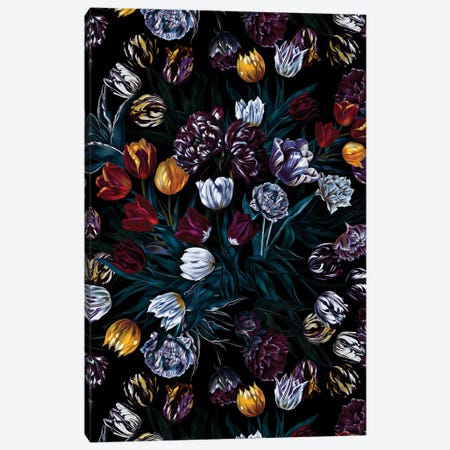 Exotic Garden - Night XIV-II Canvas Print #BUR116} by Burcu Korkmazyurek Canvas Print