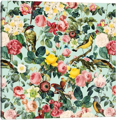 Floral And Bird III Canvas Print #BUR11