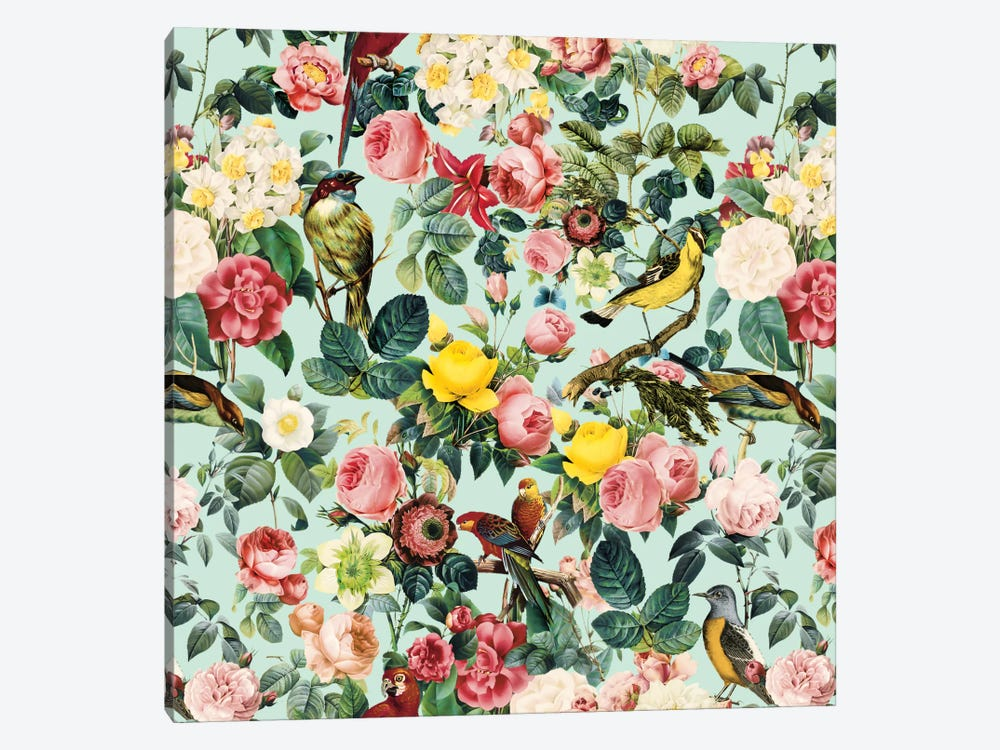 Floral And Bird III 1-piece Canvas Wall Art