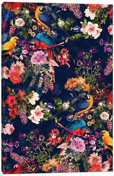 Floral And Birds XII Canvas Art Print