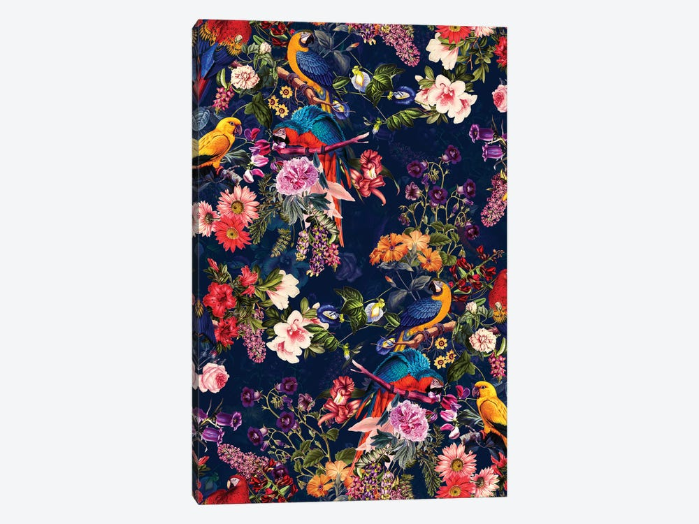 Floral And Birds XII 1-piece Canvas Art Print