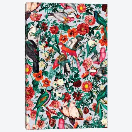 Floral And Birds XIV-II Canvas Print #BUR126} by Burcu Korkmazyurek Canvas Wall Art