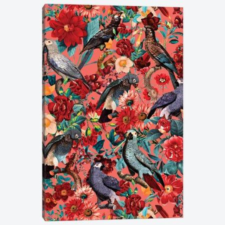 Floral And Birds XIX Canvas Print #BUR127} by Burcu Korkmazyurek Canvas Wall Art