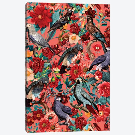 Floral And Birds XIX 3-Piece Canvas #BUR127} by Burcu Korkmazyurek Canvas Wall Art