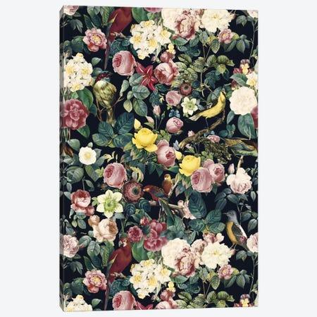 Floral And Bird IV Canvas Print #BUR12} by Burcu Korkmazyurek Canvas Print