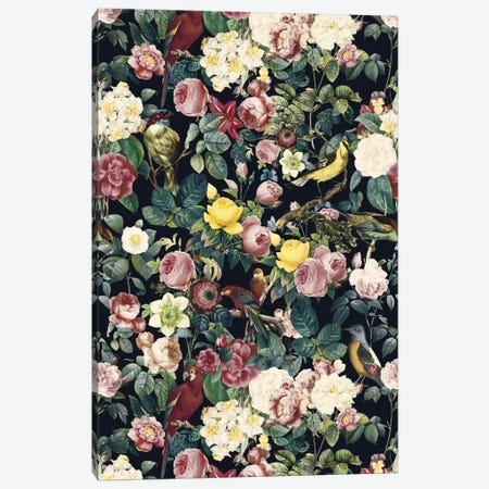 Floral And Bird IV Canvas Print #BUR12} by Burcu Korkmazyurek Canvas Print