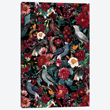 Floral And Birds XX 3-Piece Canvas #BUR130} by Burcu Korkmazyurek Canvas Artwork