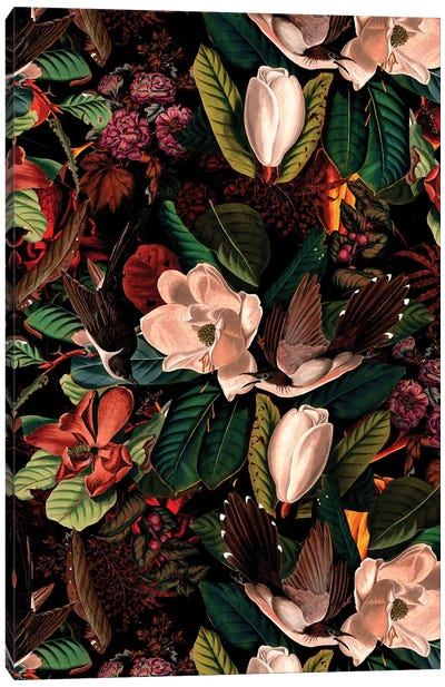 Floral And Birds XXI Canvas Art Print
