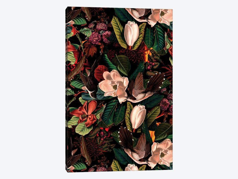 Floral And Birds XXI by Burcu Korkmazyurek 1-piece Canvas Art Print
