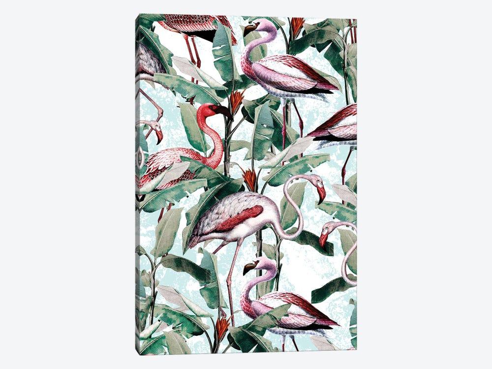 Floral And Flamingo VIII by Burcu Korkmazyurek 1-piece Art Print