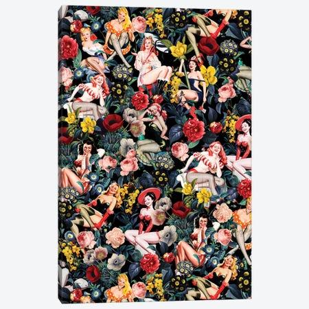 Floral And Pin-Up Girls IV Canvas Print #BUR134} by Burcu Korkmazyurek Canvas Art Print