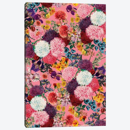 Floral Pink Pattern Canvas Print #BUR135} by Burcu Korkmazyurek Canvas Art Print