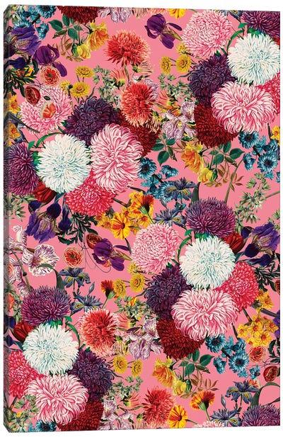 Floral Pink Pattern Canvas Art Print
