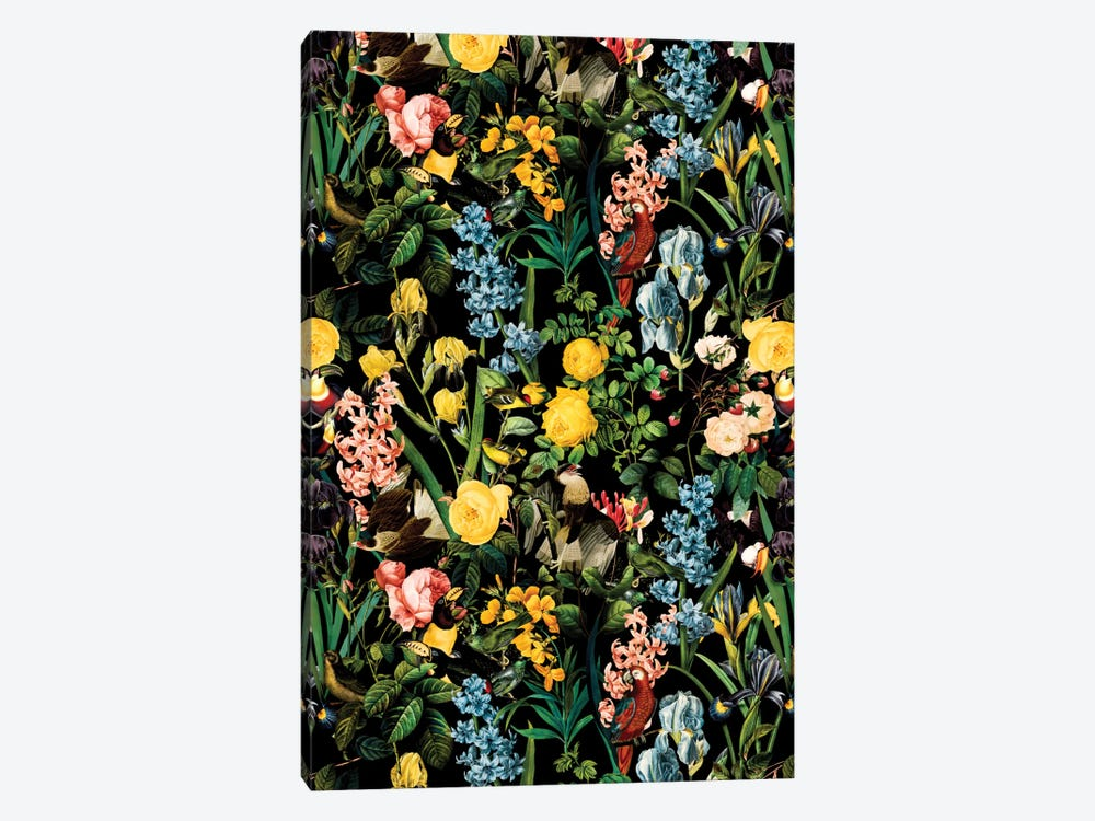 Floral And Bird V 1-piece Canvas Wall Art